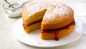 Victoria sponge - a boring cake